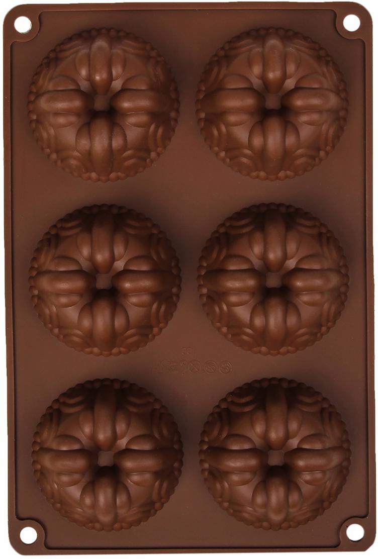 Форма для выпечки Доляна Немецкий кекс. Сладость, цвет: коричневый, 6 ячеек, 26 х 17,5 х 3 см2581339_коричневыйОт качества посуды зависит не только вкус еды, но и здоровье человека. Форма для выпечки 26х17,5х3 см Немецкий кекс. Сладость, 6 ячеек, цвета — товар, соответствующий российским стандартам качества. Любой хозяйке будет приятно держать его в руках. С нашей посудой и кухонной утварью приготовление еды и сервировка стола превратятся в настоящий праздник.