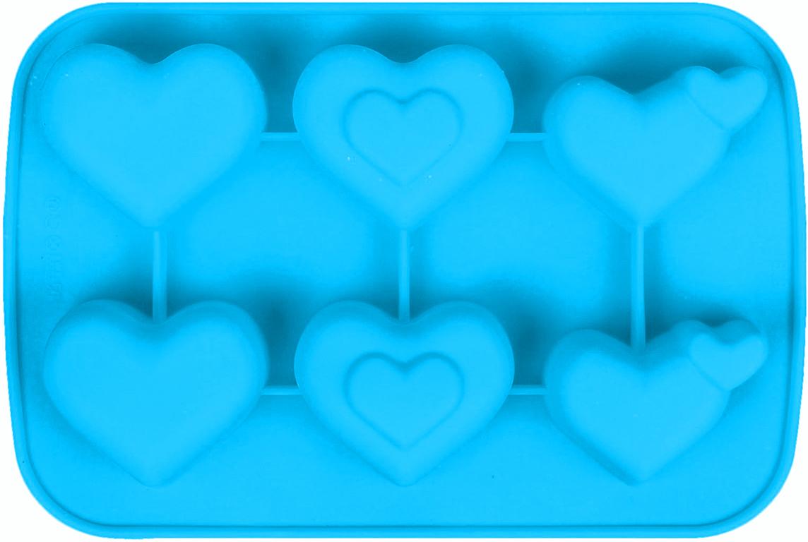Форма для выпечки Доляна Сердца, цвет: голубой, 6 ячеек, 27 х 18 х 3,5 см2581338_голубойОт качества посуды зависит не только вкус еды, но и здоровье человека. — товар, соответствующий российским стандартам качества. Любой хозяйке будет приятно держать его в руках. С нашей посудой и кухонной утварью приготовление еды и сервировка стола превратятся в настоящий праздник.
