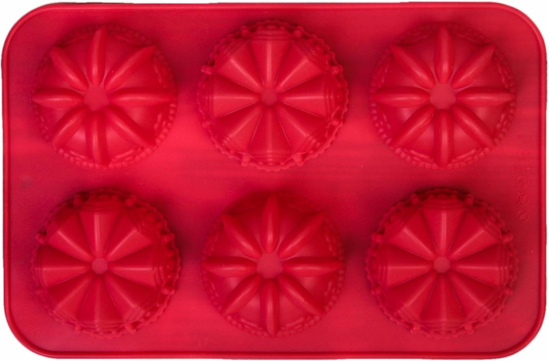 """Форма для выпечки Доляна """"Немецкий кекс. Замок"""" - современное решение для практичных и  радушных хозяек. Оригинальный предмет позволяет готовить в духовке любимые блюда, а также  вкуснейшую выпечку.  Особенности:  - блюдо сохраняет нужную форму и легко отделяется от стенок после приготовления;    - высокая термостойкость (от -40°С до +230°С) позволяет применять форму в духовых шкафах и  морозильных камерах;   - небольшая масса делает эксплуатацию предмета простой даже для хрупкой женщины; - силикон пригоден для посудомоечных машин; - высокопрочный материал делает форму долговечным инструментом; - при хранении предмет занимает мало места.   Перед первым применением промойте предмет теплой водой. В процессе приготовления    используйте кухонный инструмент из дерева, пластика или силикона. Перед извлечением блюда    из силиконовой формы дайте ему немного остыть, осторожно отогните края предмета.  Как  выбрать форму для выпечки - статья на OZON Гид."""