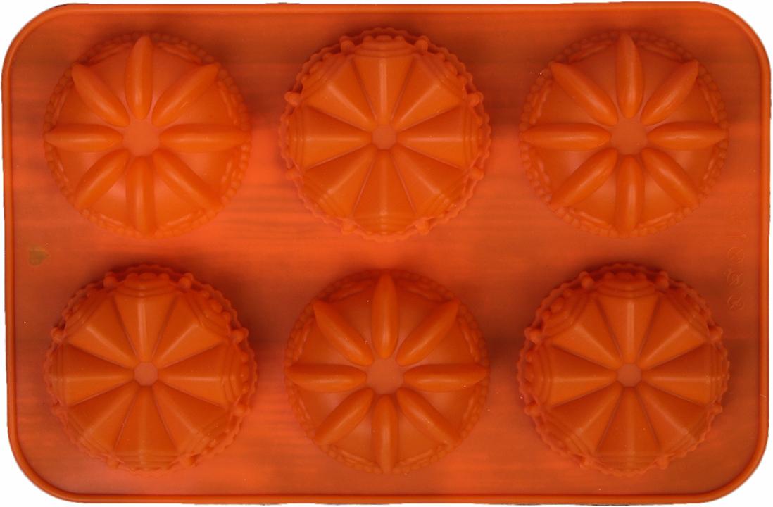 Форма для выпечки Доляна Немецкий кекс. Замок, цвет: оранжевый, 6 ячеек, 29 х 18 см2570340_оранжевыйОт качества посуды зависит не только вкус еды, но и здоровье человека. — товар, соответствующий российским стандартам качества. Любой хозяйке будет приятно держать его в руках. С нашей посудой и кухонной утварью приготовление еды и сервировка стола превратятся в настоящий праздник.