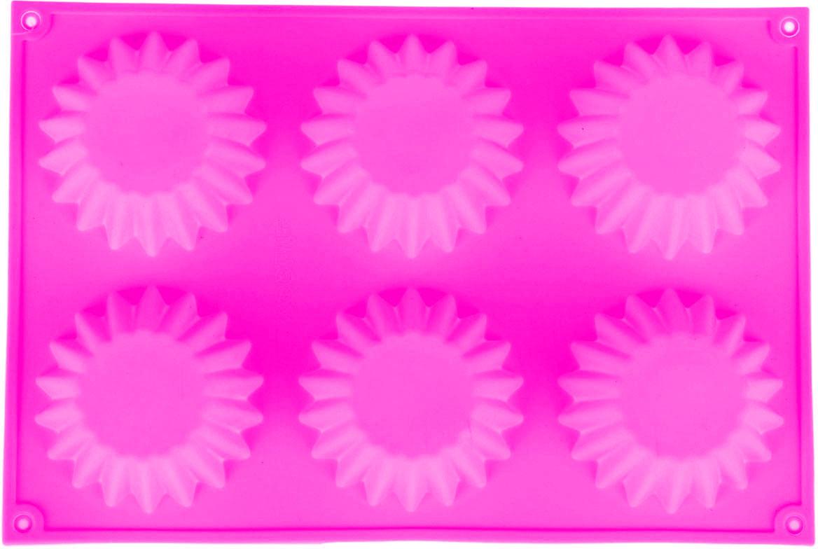 Форма для выпечки Доляна Круг. Риб, цвет: розовый, 6 ячеек, 29 х 20 х 5 см118941_розовыйФорма для выпечки из силикона — современное решение для практичных и радушных хозяек. Оригинальный предмет позволяет готовить в духовке любимые блюда из мяса, рыбы, птицы и овощей, а также вкуснейшую выпечку. Почему это изделие должно быть на кухне? блюдо сохраняет нужную форму и легко отделяется от стенок после приготовления; высокая термостойкость (от –40 до 230 ?) позволяет применять форму в духовых шкафах и морозильных камерах; небольшая масса делает эксплуатацию предмета простой даже для хрупкой женщины; силикон пригоден для посудомоечных машин; высокопрочный материал делает форму долговечным инструментом; при хранении предмет занимает мало места. Советы по использованию формы Перед первым применением промойте предмет теплой водой. В процессе приготовления используйте кухонный инструмент из дерева, пластика или силикона. Перед извлечением блюда из силиконовой формы дайте ему немного остыть, осторожно отогните края предмета. Готовьте с удовольствием!