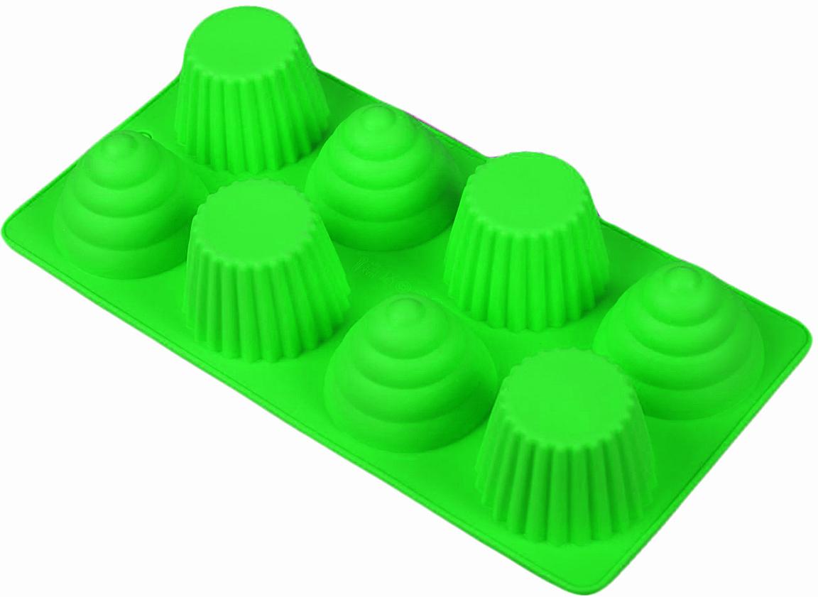 Форма для выпечки Доляна Пирамидки, цвет: зеленый, 8 ячеек, 28 х 14,5 х 4 см2582078_зеленыйОт качества посуды зависит не только вкус еды, но и здоровье человека. Форма для выпечки 28х14,5х4 см Пирамидки, 8 ячеек, цвета — товар, соответствующий российским стандартам качества. Любой хозяйке будет приятно держать его в руках. С нашей посудой и кухонной утварью приготовление еды и сервировка стола превратятся в настоящий праздник.