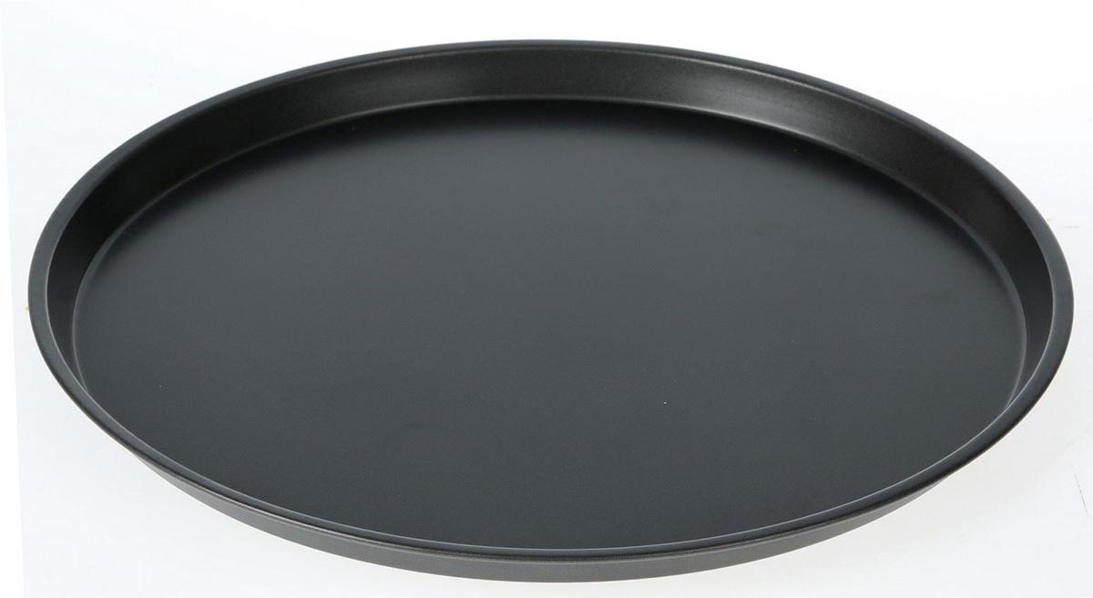 Форма для пиццы Доляна Жаклин. Пицца, с антипригарным покрытием, 32 х 1,5 см1003537Круглая форма с антипригарным покрытием для выпечки пригодится каждому повару, который привык готовить быстро и вкусно. Качественное изделие великолепно подойдет для разнообразных пирогов, запеканок, и, конечно же, пиццы. Достоинства предмета Материал — углеродистая сталь — отличается особой прочностью и сохраняет все эксплуатационные свойства при температуре до +450 °С. Эффективное теплораспределение ускоряет процесс готовки. Антипригарное покрытие оберегает блюда от пригорания и сокращает расход масла. Поверхность не впитывает запахов и не вступает в реакции с продуктами питания. Форма легко отмывается. При аккуратном использовании изделие прослужит долгие годы. Рекомендуется избегать применения металлических предметов, губок и высокоабразивных моющих средств. Перед первым использованием тщательно промойте форму.