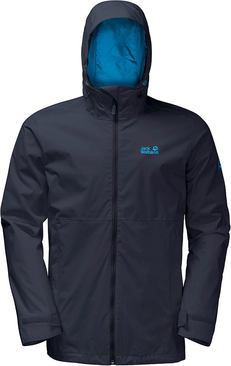 Куртка мужская Jack Wolfskin Arroyo, цвет: темно-синий. 1108311-1010. Размер XXXL (56) футболка мужская jack wolfskin rock chill logo t цвет черный 1806171 6000 размер xxxl 56