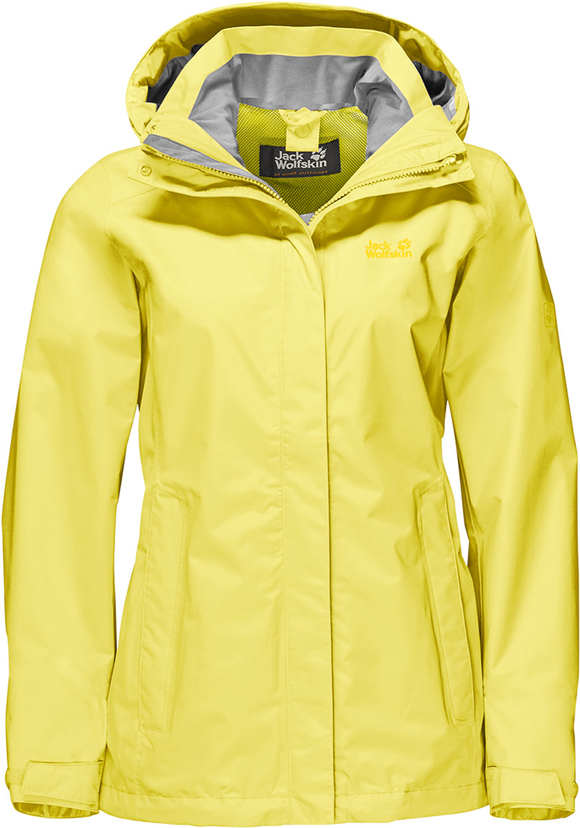Куртка женская Jack Wolfskin Seven Lakes Jacket, цвет: желтый. 1108591-3075. Размер XXL (56) снуд jack wolfskin jack wolfskin ja021guwha98