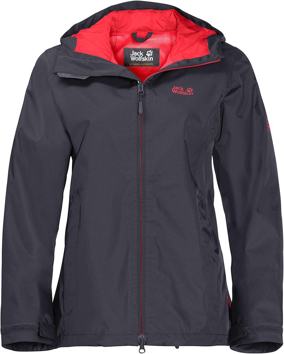 Куртка женская Jack Wolfskin Arroyo, цвет: серый. 1108912-6230. Размер M (46/48) куртки jack wolfskin куртка green terrain boys