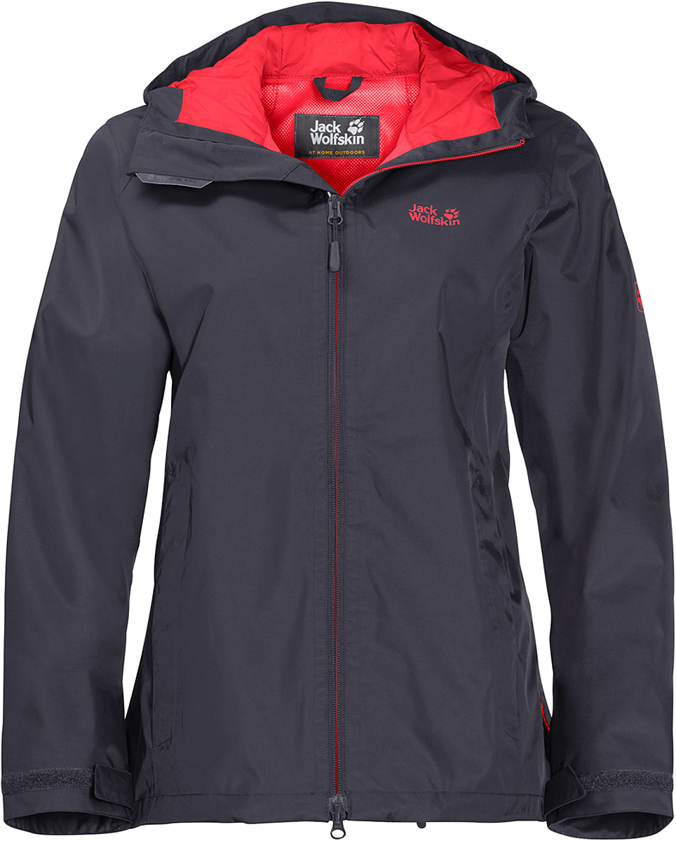 Куртка женская Jack Wolfskin Arroyo, цвет: серый. 1108912-6230. Размер M (46/48)