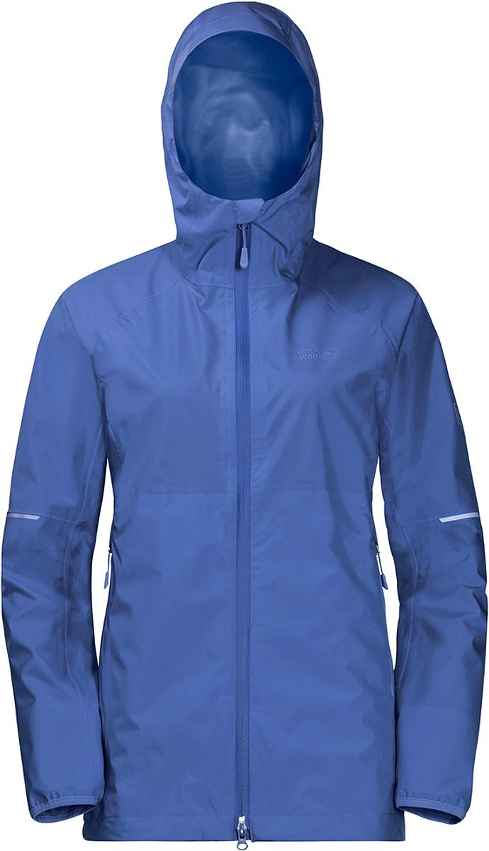 Куртка женская Jack Wolfskin Sierra Pass Jacket, цвет: голубой. 1110101-1098. Размер M (46/48)  - купить со скидкой