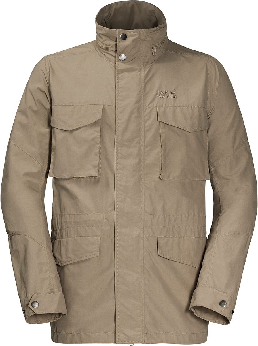 Куртка мужская Jack Wolfskin Freemont Fieldjacket, цвет: бежевый. 1304422-5605. Размер L (48/50)1304422-5605Куртка мужская Jack Wolfskin Freemont Fieldjacket выполнена из полиамида и хлопка. Эта прочная водо- и ветронепроницаемая куртка была разработана для людей, находящихся в непрерывном движении. Структура ткани делает ее ветронепроницаемой. В солнечную погоду капюшон можно аккуратно спрятать в воротнике. У куртки также имеются несколько полезных карманов, куда вы можете положить ваш смартфон, билеты и карту местности.