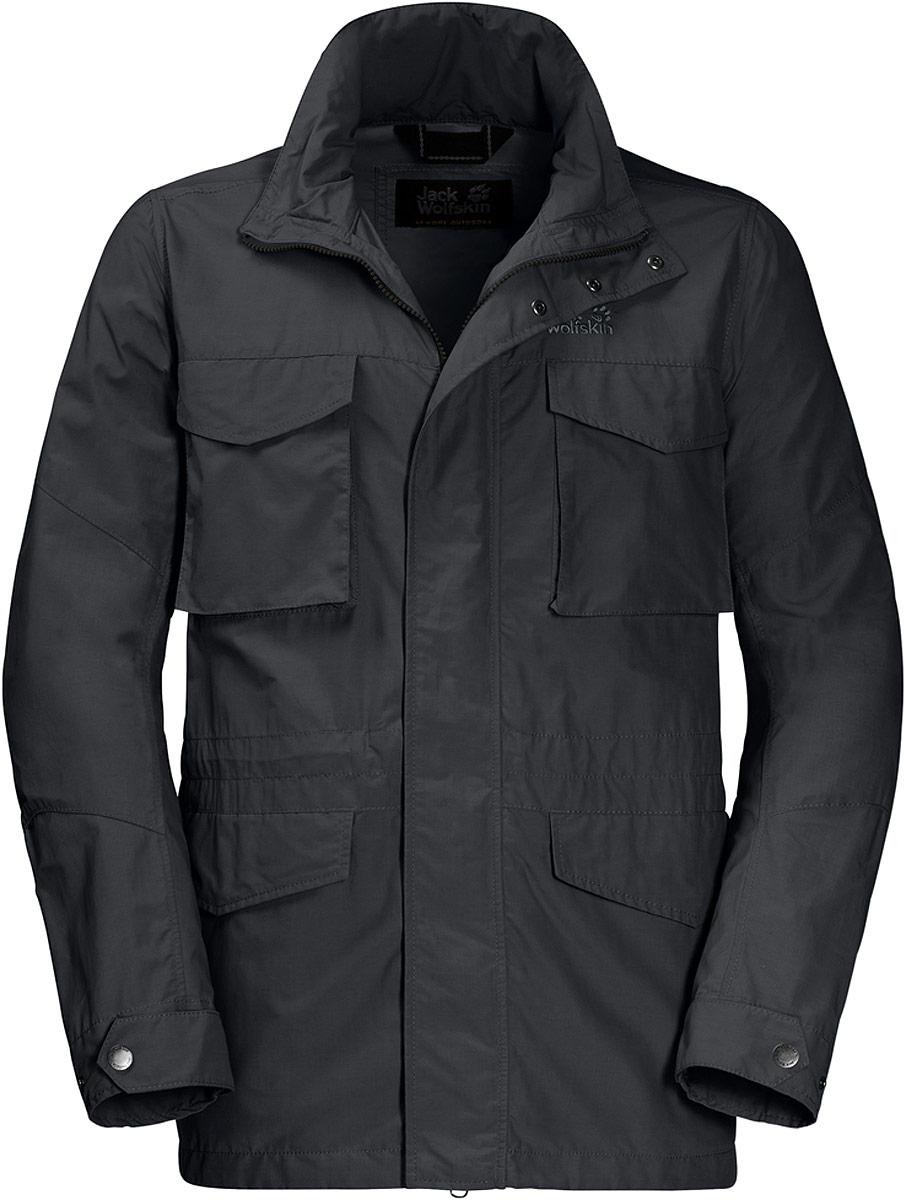 Куртка мужская Jack Wolfskin Freemont Fieldjacket, цвет: темно-серый. 1304422-6350. Размер M (46)1304422-6350Куртка мужская Jack Wolfskin Freemont Fieldjacket выполнена из полиамида и хлопка. Эта прочная водо- и ветронепроницаемая куртка была разработана для людей, находящихся в непрерывном движении. Структура ткани делает ее ветронепроницаемой. В солнечную погоду капюшон можно аккуратно спрятать в воротнике. У куртки также имеются несколько полезных карманов, куда вы можете положить ваш смартфон, билеты и карту местности.