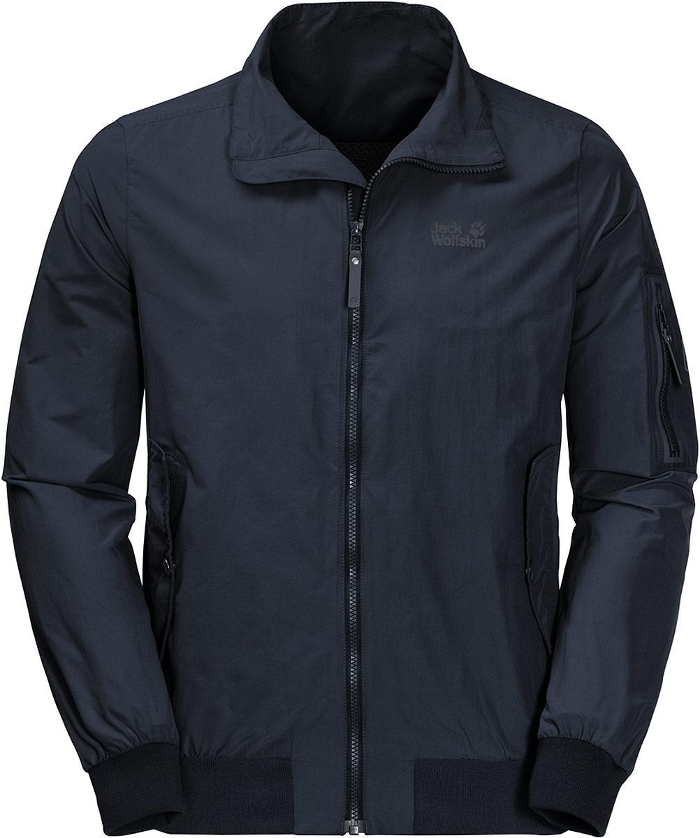 Ветровка мужская Jack Wolfskin Huntington Jacket, цвет: темно-синий. 1305351-1010. Размер XXXL (56)