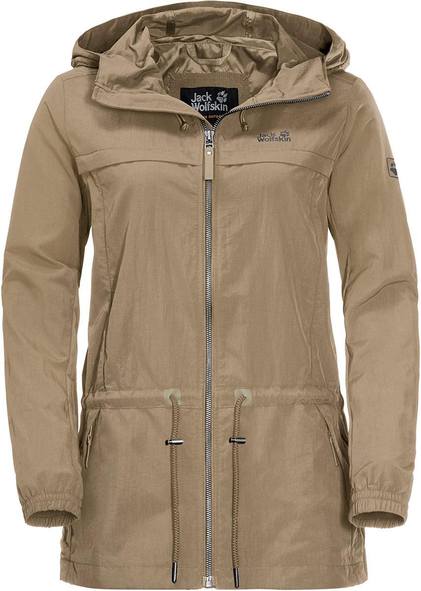 Купить Ветровка женская Jack Wolfskin Saguaro Jacket, цвет: бежевый. 1305431-5605. Размер M (46/48)