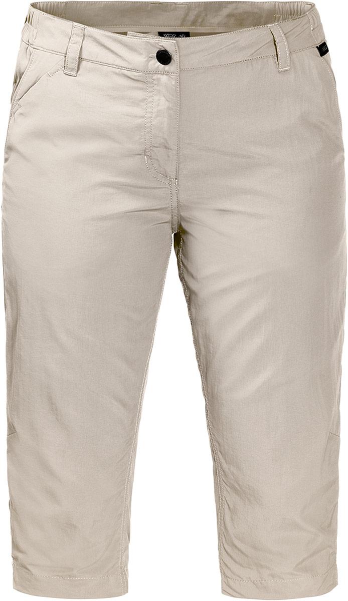 Бриджи женские Jack Wolfskin Kalahari 3/4 Pants W, цвет: бежевый. 1503302-5505. Размер 46 (56) бейсболка jack wolfskin baseball cap цвет светло бежевый 1900671 5505 размер 56 61