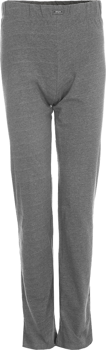 Брюки мужские Sela, цвет: темно-серый. PH-265/092-8131. Размер S (46)PH-265/092-8131Мужские домашние брюки от Sela выполнены из эластичного хлопкового трикотажа. Модель на талии дополнена эластичной резинкой.