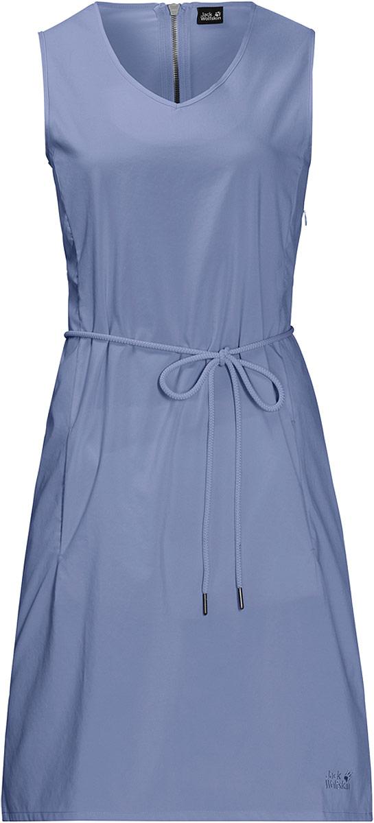 Платье Jack Wolfskin Tioga Road Dress, цвет: голубой. 1504821-1405. Размер L (50)1504821-1405На прогулке по пляжу или по лугам - платье без рукавов свободного покроя Tioga Road Dress от Jack Wolfskin обеспечит вас прохладой и комфортом на протяжении всего лета. Ткань очень мягкая и слегка эластичная. Платье эффективно защитит вас от УФ-излучения в солнечные дни.