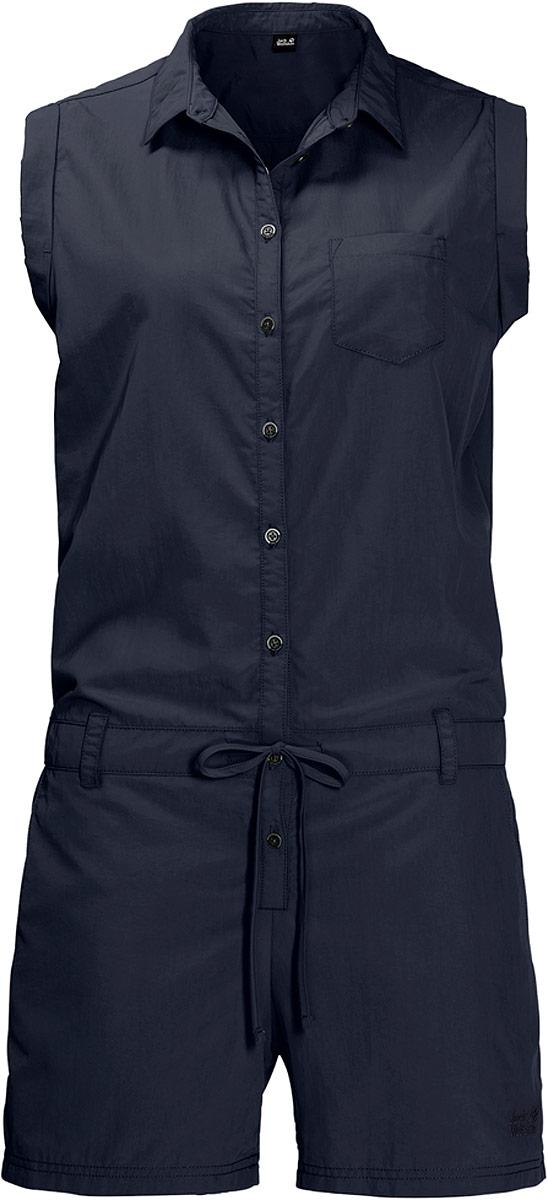 Комбинезон женский Jack Wolfskin Kalahari Jumpsuit, цвет: темно-синий. 1504831-1910. Размер XL (52/54) женский комбинезон 2015 025kh