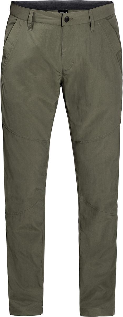 Брюки мужские Jack Wolfskin Desert Valley Pants, цвет: оливковый. 1504871-5052. Размер 54 that summer