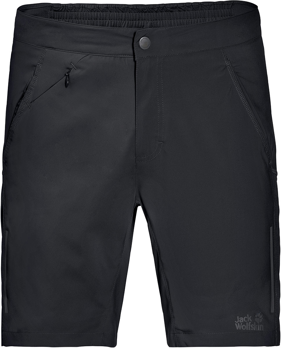 Шорты мужские Jack Wolfskin Passion Trail Xt Shorts, цвет: черный. 1504931-6000. Размер 56 santic men cycling shorts 3 4 coolmax sponge padded downhill mtb shorts breathable road mountain bike shorts bicycle short pants
