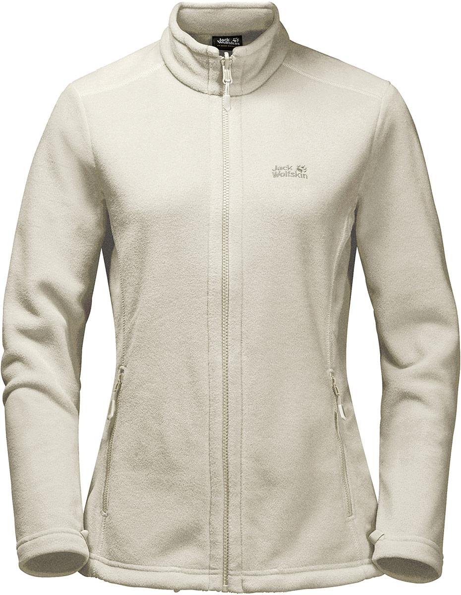 Купить Толстовка женская Jack Wolfskin Moonrise Jacket, цвет: бежевый. 1703881-5017. Размер XS (42)