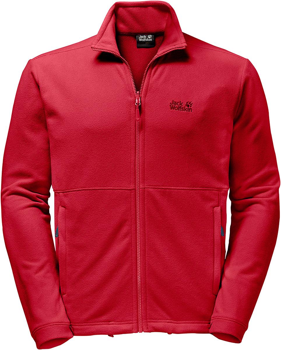 Толстовка мужская Jack Wolfskin Kiruna Jacket M, цвет: красный. 1704671-2505. Размер M (46)1704671-2505Флисовая толстовка от Jack Wolfskin идеально подходит как для летних прогулок по холмам, так и для походов от хижины к хижине. Легкая и компактная, она станет вашим любимым запасным вариантом для привалов и прохладной погоды. А еще ее легко упаковать в рюкзак. Толстовка сшита из флиса и обеспечивает базовую теплоизоляцию в теплую погоду или во время энергичных занятий. Kiruna Jacket можно состегивать с подходящей мембранной курткой с помощью системной молнии (укороченной длины).