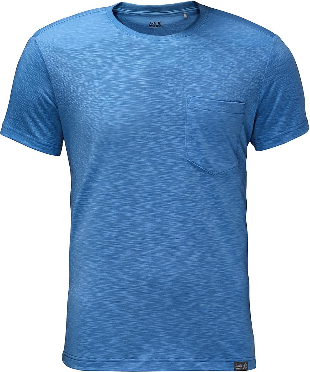 Футболка мужская Jack Wolfskin Travel T, цвет: голубой. 1805591-1255. Размер S (42/44)1805591-1255Travel T от Jack Wolfskin - удобная базовая футболка для путешествий, отдыха и на каждый день. Ее дизайн прост, но в основе - очень умная ткань. Она быстро сохнет, благодаря эффективным влагоотводящим свойствам, а специальная обработка позволяет минимизировать неприятные запахи.