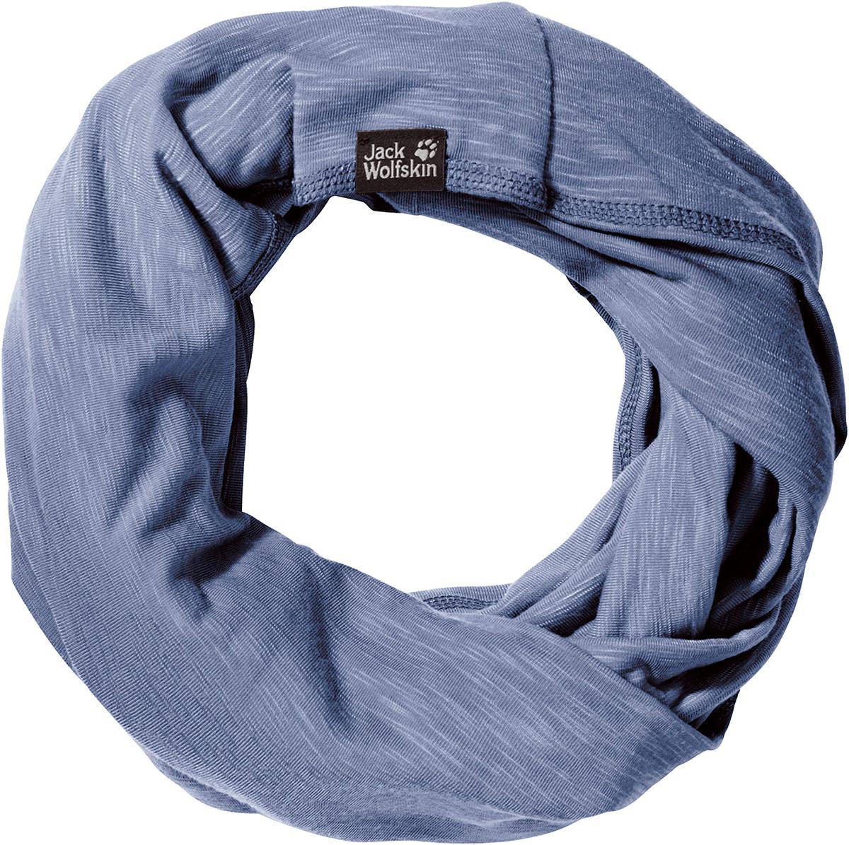 Снуд-хомут Jack Wolfskin Travel Loop, цвет: голубой. 1905771-1405. Размер универсальный1905771-1405Снуд-хомут Travel Loop изготовлен из полиэстера с добавлением эластана. Ткань мягкая и приятная на ощупь, но при этом очень прочная. Шарф быстро сохнет и предотвращает образование неприятных запахов. Такой шарф - практичное и комфортное решение для прохладной погоды. Изделие согреет и защитит от ветра, а также станет завершающей деталью вашего образа.