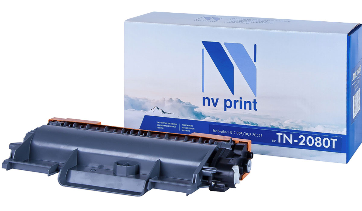 NV Print NV-TN2080T, Black тонер-картридж для Brother HL-2130R/DCP-7055R картридж для принтера nv print для hp cf403x magenta