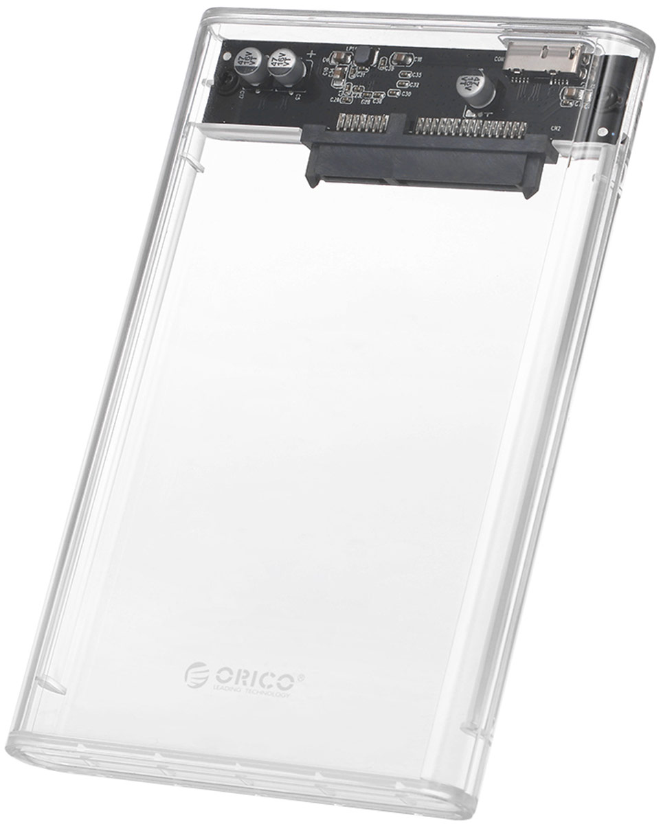 Orico 2139U3, Transparent контейнер для HDD 2 5 sata usb 3 0 hdd enclosure with pouch black silver super speed 5gbps