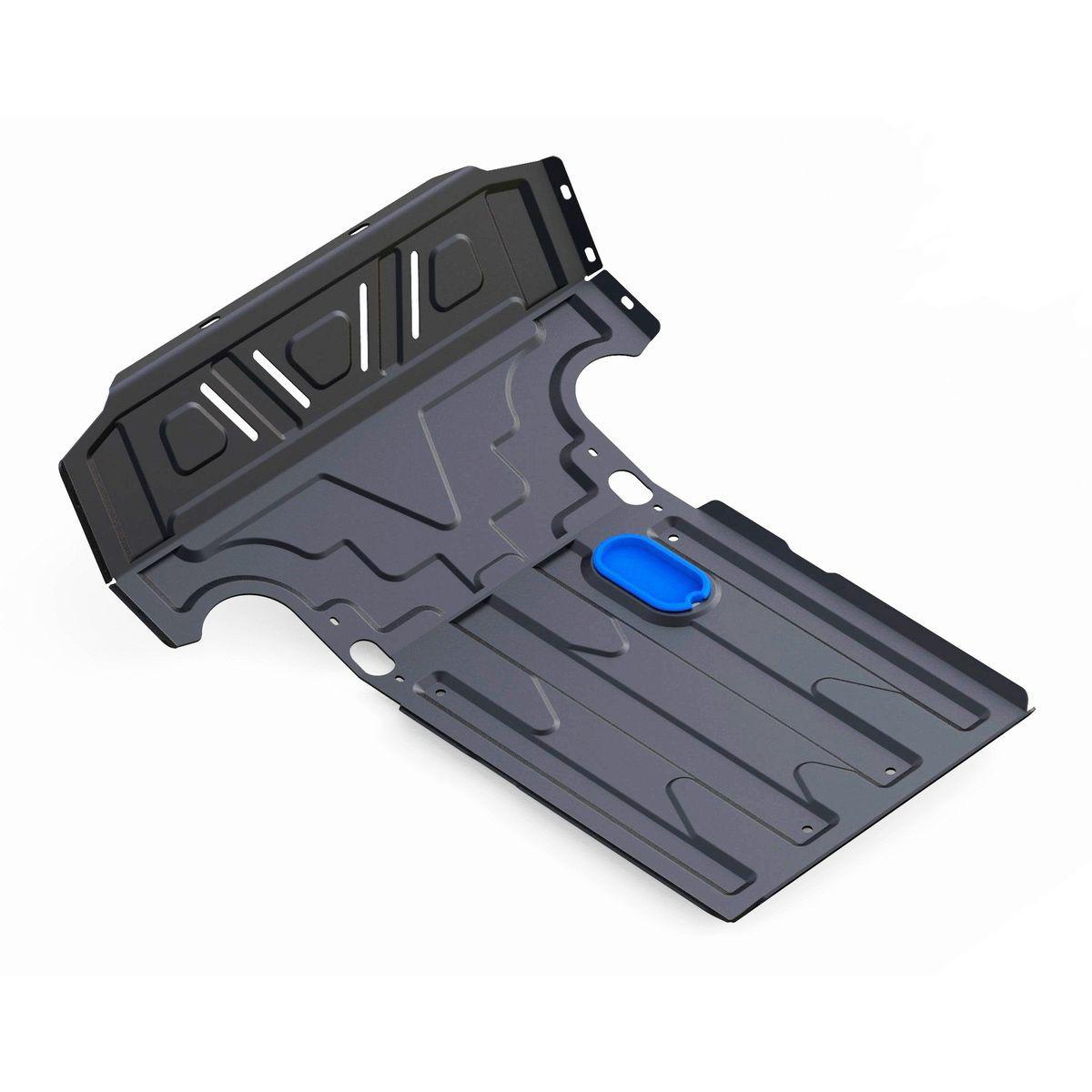 Защита картера Rival для Chevrolet Niva 2002-н.в., 2 части, сталь 2 мм1.1017.1Защита картера (2 части) Rival для Chevrolet Niva V - 1.7 2002-н.в., Сталь 2 мм, штатный крепеж, 1.1017.1Стальные защиты картера Rival надежно защищают днище вашего автомобиля от повреждений при наезде на бордюры, выступающие канализационные люки, кромки поврежденного асфальта или при ремонте дорог, не говоря уже о загородных дорогах.Основными преимуществами продукта являются:- Имеет оптимальное соотношение цена-качество.- Спроектированы с учетом особенностей автомобиля, что делает установку удобной.- Является надежной защитой для важных элементов на протяжении долгих лет.- Глубокий штамп дополнительно усиливает конструкцию защиты.- Подштамповка в местах крепления защищает крепеж от срезания.- Технологические отверстия там, где они необходимы для смены масла и слива воды, оборудованные заглушками, надежно закрепленными на защите.В комплекте инструкция по установке.Уважаемые клиенты!Обращаем ваше внимание, на тот факт, что защита имеет форму, соответствующую модели данного автомобиля. Наличие глубокого штампа и лючков для смены фильтров/масла предусмотрено не на всех защитах. Фото служит для визуального восприятия товара.