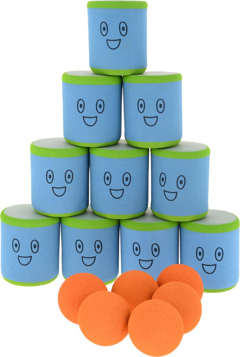 Safsof Игровой набор Городки цвет голубой зеленый оранжевый - Игры на открытом воздухе