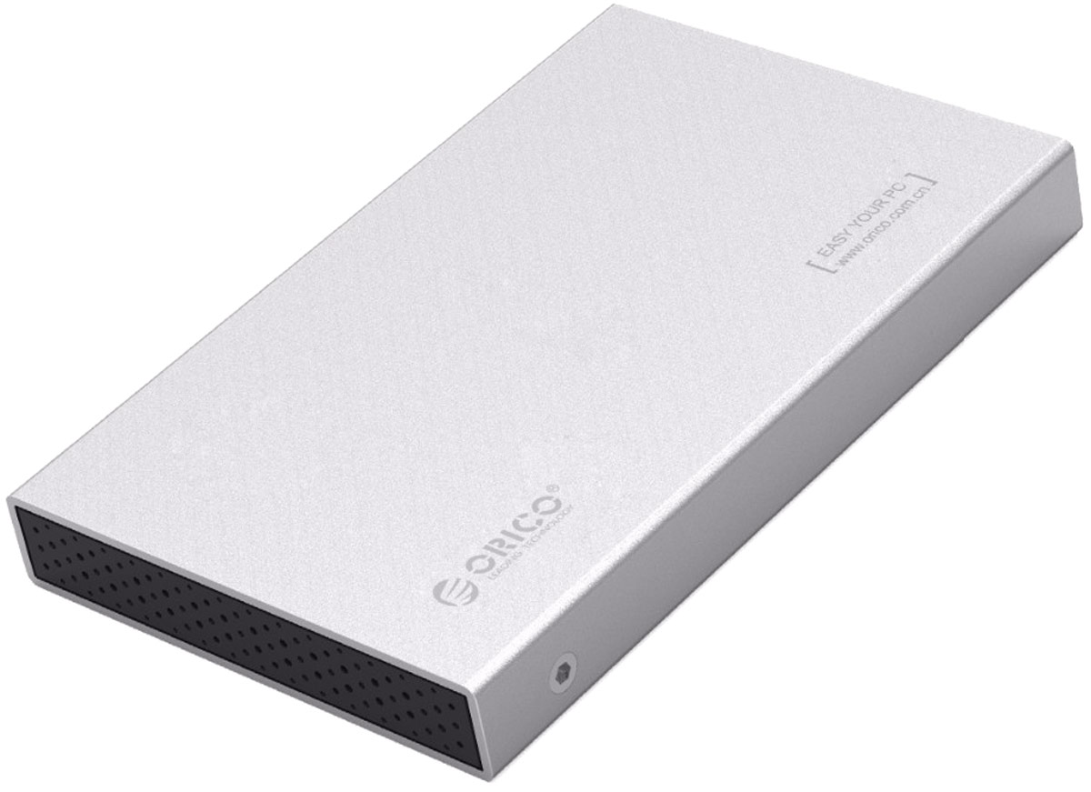 Orico 2518S3, Silver контейнер для HDDORICO 2518S3-SV;ORICO 2518S3-SVORICO 2518S3-SV не требует установки драйверов и совместим с большинством популярных операционных систем: Windows XP, Vista, 7, 8, 8.1, 10, Mac OS и Linux. Подключается к ПК или ноутбуку при помощи интерфейса USB 3.0 Характеристики Тип устройства Корпус для внешних жестких дисков HDD/SSD 2,5 дюймов толщиной 7 и 9,5 мм до 2 Тб Поддерживаемая емкость До 2 Тб Слотов для дисков 1 Тип дисков SSD / HDD Форм фактор дисков 2.5 дюйма толщиной 7 мм и 9,5 мм Внешний интерфейс USB 3.0 Внутренний интерфейс SATA 3.0 поддержка SATA 2.0/ 1.0 Скорость сигнала До 6 Гбит/сек Поддержка ОС Windows 10/8/7 / Vista / XP или Mac OS 9.1 и выше UASP Есть Plug&Play Есть Материал корпуса Алюминиевый сплав, ABS огнестойкий пластик Охлаждение Пассивное. Отвод тепла через металлический корпус и вентиляционные отверстия Источник питания USB разъем ПК Индикатор состояния LED синий - готов к работе, мигание синий/красный - работает Безопасность Защита от скачков напряжения, высокого напряжения, электрических помех, перегрузки по силе и напряжению токаЦвет Серебристый Прочее Контроллер JMS, Классическая установка диска. Фиксация винтами.