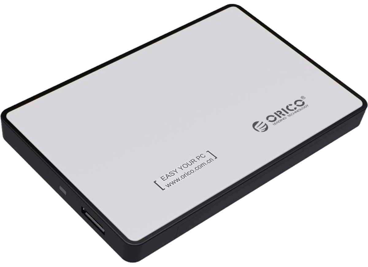 Orico 2588US3, Silver контейнер для HDDORICO 2588US3-SVOrico 2588US3 станет идеальным решением для подключения 2,5-дюймовых накопителей толщиной от 7 до 9,5 мм. Корпус для HDD совместим состандартами SATA II и SATA III. Устройство Orico 2588US3 подключается к ПК или ноутбуку при помощи интерфейса USB 3.0, не требует установкидрайверов и совместим с большинством популярных операционных систем: Windows XP, Vista, 7, 8, 8.1, 10, Mac OS и Linux.Характеристики Тип устройств: контейнер для жёстких дисков Слотов для дисков 1 Тип дисков: HDD/SSD Форм фактор дисков: 2,5 дюйма Внешний интерфейс: USB 3.0 Внутренний интерфейс: SATA Скорость сигнала: 5 Гбит/сек Поддержка ОС: Windows XP, Vista, 7, 8, 8.1, 10, Mac OS и Linux Материал корпуса: пластик Охлаждение: пассивное Индикатор состояния: да Длина кабеля: 0,6 метра