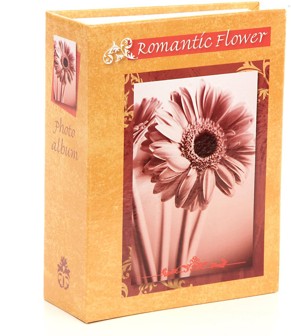 Фотоальбом Pioneer Romantic Flower, цвет: оранжевый, 100 фото, 10 х 15 см фотоальбом platinum классика 240 фотографий 10 x 15 см