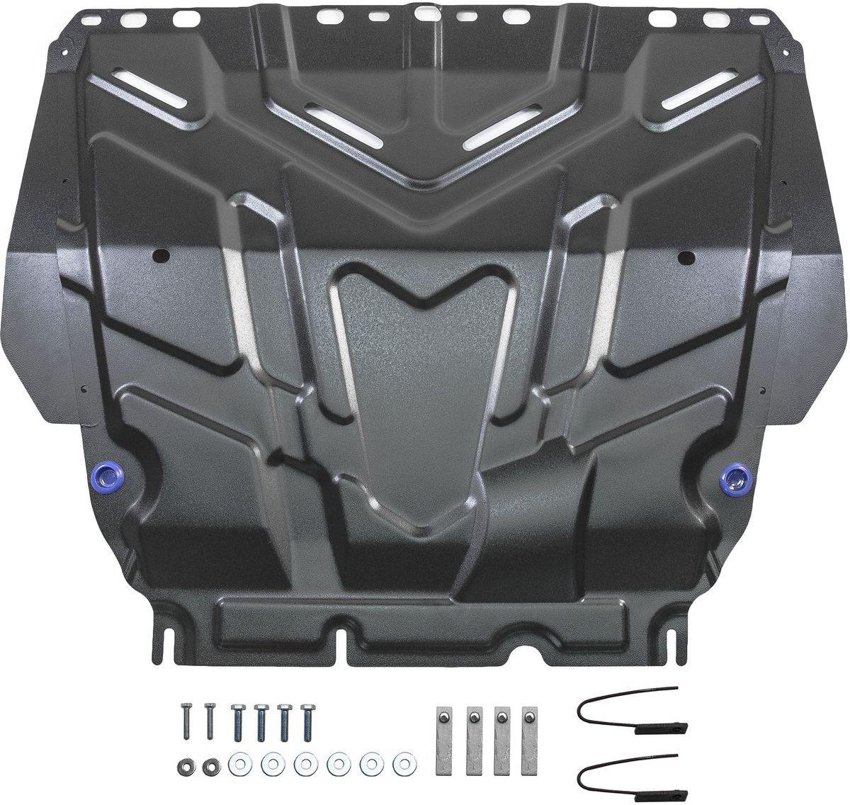 "Защита картера и КПП ""Rival"" для Ford С-Max 2003-2010/Ford Focus 2005-2011 2011-2015 2015-н.в./Ford Grand C-Max 2010-2015/Ford Kuga 2008-2013, сталь 2 мм"