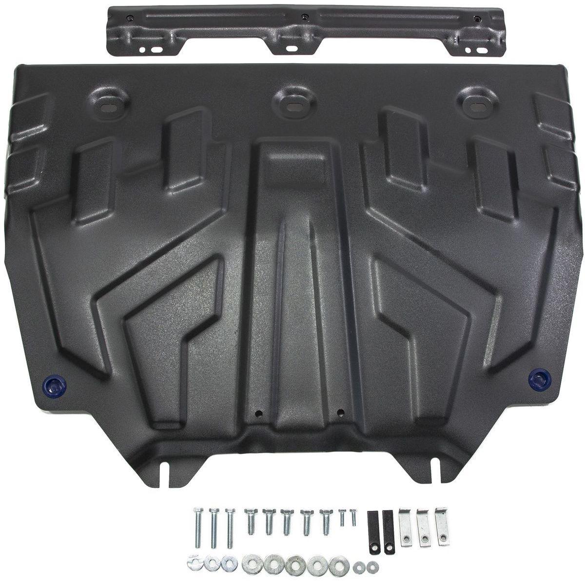 Купить Защита картера и КПП Rival , увеличенная, для Mazda 3 2013-н.в./Mazda 6 2012-2015 2015-н.в./Mazda CX-5 2011-2015 2015-2017 2017-н.в., сталь 2 мм