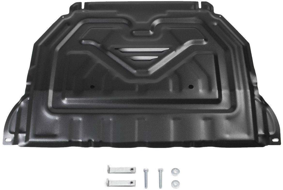 Защита картера и КПП Rival для Mitsubishi Outlander 2012-2015 2015-н.в., сталь 2 мм111.4036.1Защита картера и КПП Rival для Mitsubishi Outlander V - 2.0; 2.4; 3.0 2015-н.в./Mitsubishi Outlander V - 2.0; 2.4; 3.0 2012-2015, Сталь 2 мм, комплект крепежа, 111.4036.1Стальные защиты картера Rival надежно защищают днище вашего автомобиля от повреждений при наезде на бордюры, выступающие канализационные люки, кромки поврежденного асфальта или при ремонте дорог, не говоря уже о загородных дорогах.Основными преимуществами продукта являются:- Имеет оптимальное соотношение цена-качество.- Спроектированы с учетом особенностей автомобиля, что делает установку удобной.- Является надежной защитой для важных элементов на протяжении долгих лет.- Глубокий штамп дополнительно усиливает конструкцию защиты.- Подштамповка в местах крепления защищает крепеж от срезания.- Технологические отверстия там, где они необходимы для смены масла и слива воды, оборудованные заглушками, надежно закрепленными на защите.В комплекте инструкция по установке.Уважаемые клиенты!Обращаем ваше внимание, на тот факт, что защита имеет форму, соответствующую модели данного автомобиля. Наличие глубокого штампа и лючков для смены фильтров/масла предусмотрено не на всех защитах. Фото служит для визуального восприятия товара.