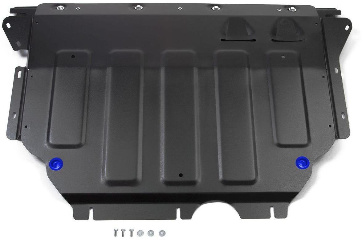 Защита картера и КПП Rival для Skoda Kodiaq 2017-н.в./Volkswagen Tiguan 2017-н.в., сталь 2 мм111.5115.1Защита картера и КПП Rival для Skoda Kodiaq V - 2.0 (180 л.с.); 2.0d (150 л.с.) 2017-н.в./Volkswagen Tiguan V - 1.4 (125 л.с.); 2.0d (150 л.с.); 2.0 (180 л.с.) 2017-н.в., Сталь 2 мм, комплект крепежа, 111.5115.1Стальные защиты картера Rival надежно защищают днище вашего автомобиля от повреждений при наезде на бордюры, выступающие канализационные люки, кромки поврежденного асфальта или при ремонте дорог, не говоря уже о загородных дорогах.Основными преимуществами продукта являются:- Имеет оптимальное соотношение цена-качество.- Спроектированы с учетом особенностей автомобиля, что делает установку удобной.- Является надежной защитой для важных элементов на протяжении долгих лет.- Глубокий штамп дополнительно усиливает конструкцию защиты.- Подштамповка в местах крепления защищает крепеж от срезания.- Технологические отверстия там, где они необходимы для смены масла и слива воды, оборудованные заглушками, надежно закрепленными на защите.В комплекте инструкция по установке.Уважаемые клиенты!Обращаем ваше внимание, на тот факт, что защита имеет форму, соответствующую модели данного автомобиля. Наличие глубокого штампа и лючков для смены фильтров/масла предусмотрено не на всех защитах. Фото служит для визуального восприятия товара.