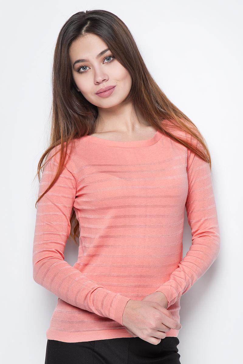 Джемпер женский Sela, цвет: коралловый. JR-114/1089-8111. Размер XL (50) все цены