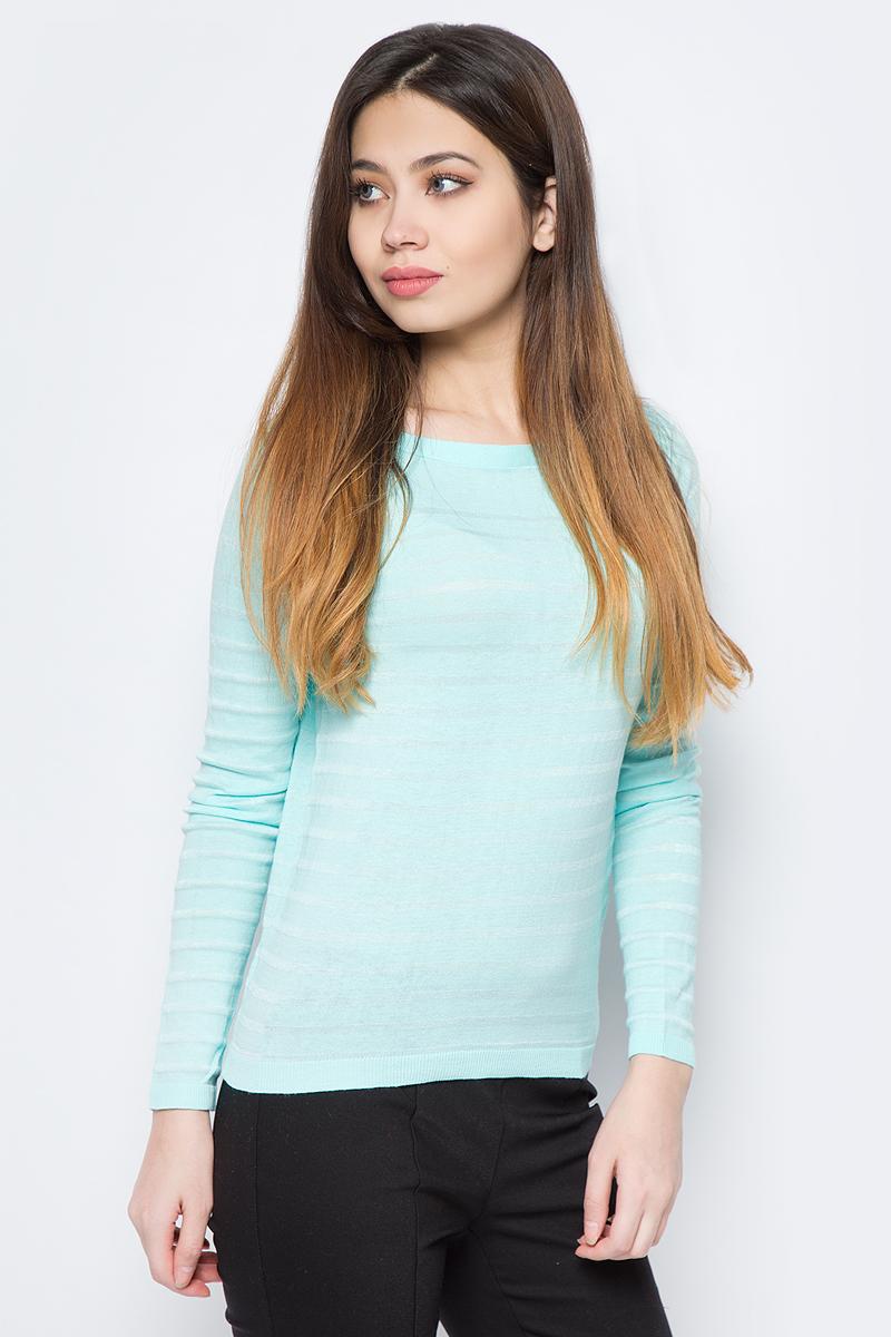 Джемпер женский Sela, цвет: бирюзовый. JR-114/1089-8111. Размер XS (42)