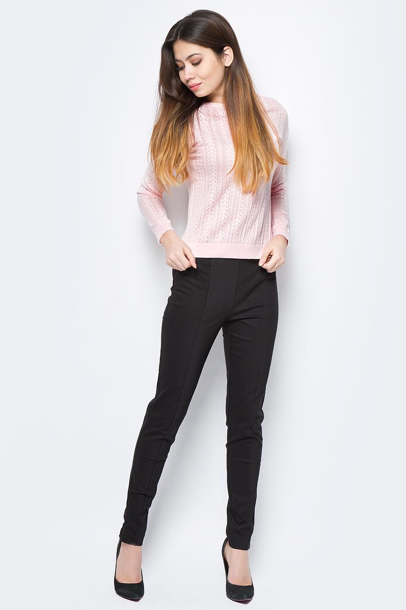 Джемпер женский Sela, цвет: розовый. JR-114/686-8111. Размер L (48)JR-114/686-8111Джемпер женский Sela выполнен из натурального хлопка и нейлона. Модель с круглым вырезом горловины и длинными рукавами.