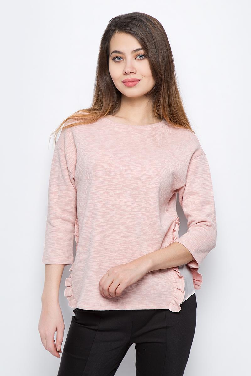Джемпер женский Sela, цвет: розовый. St-113/261-8131. Размер XS (42) джемпер женский sela цвет серый st 113 094 8253 размер xxl 52