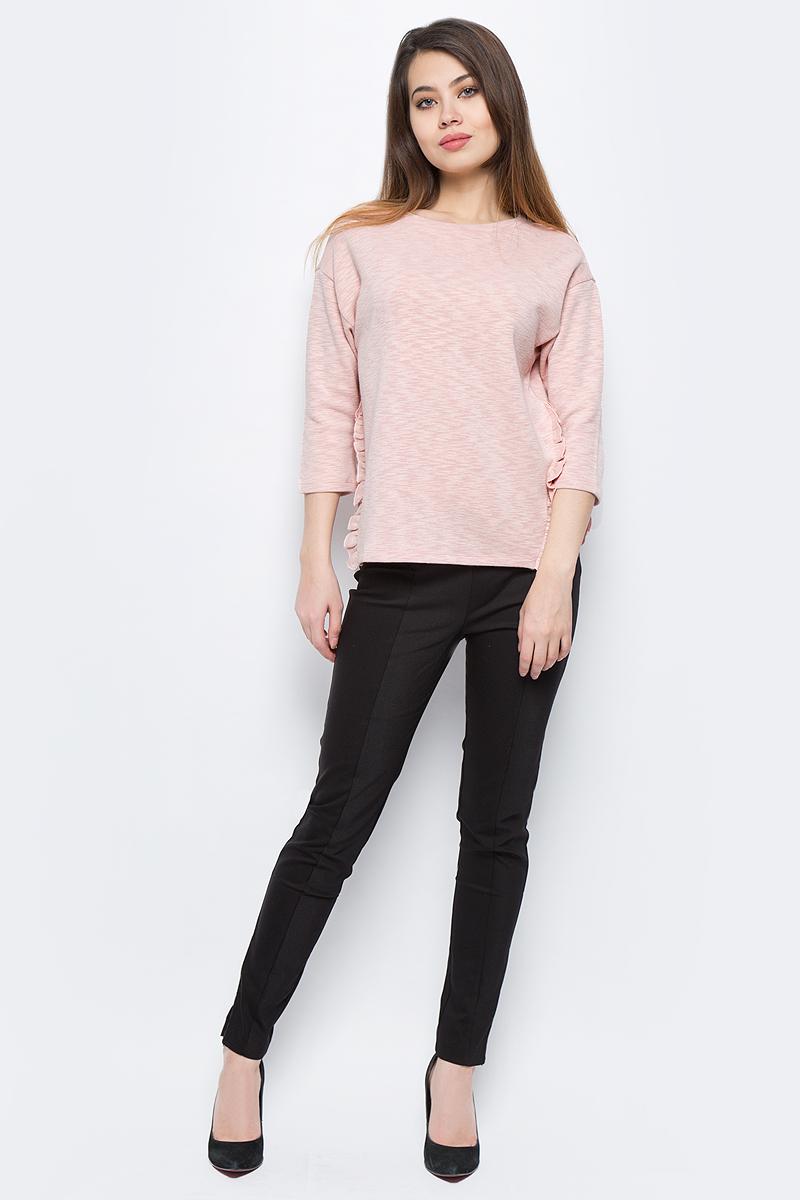 Джемпер женский Sela, цвет: розовый. St-113/261-8131. Размер M (46)St-113/261-8131Стильный джемпер Sela изготовлен из полиэстера с добавлением хлопка. Модель имеет круглый вырез горловины и рукава 3/4.