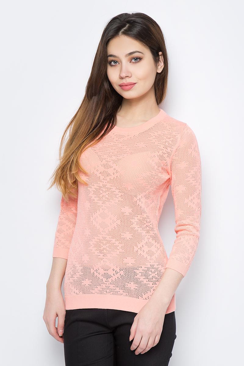 Джемпер женский Sela, цвет: розовый. JR-114/691-8111. Размер XL (50) джемпер женский sela цвет коралловый jr 114 1089 8111 размер xl 50