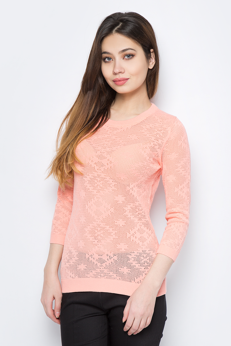 Джемпер женский Sela, цвет: розовый. JR-114/691-8111. Размер XL (50) все цены