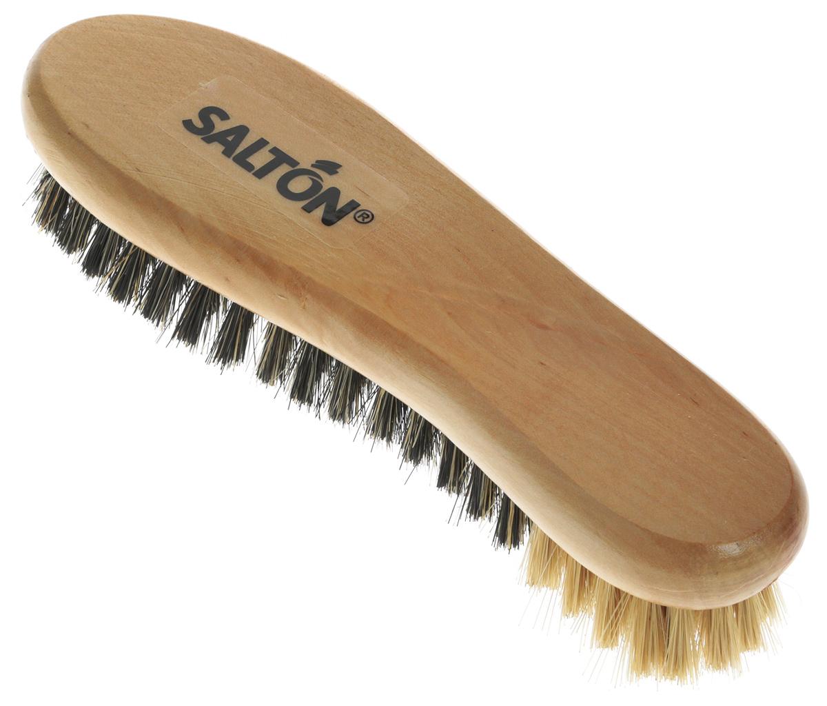 Щетка Salton для обуви из гладкой кожи26258772Благодаря густому мягкому ворсу из инновационного материала щетка Saltonобеспечивает легкое, равномерное нанесение крема по поверхности обуви.Осуществляет эффективную полировку для придания блеска.С щеткой Salton ваша обувь будет выглядеть как новая!Материал: полипропилен, дерево. Размер: 17,5 см х 5,5 см х 4,2 см. Уважаемые клиенты!Обращаем ваше внимание на возможные изменения в дизайне упаковки. Поставка осуществляется в зависимости от наличия на складе.