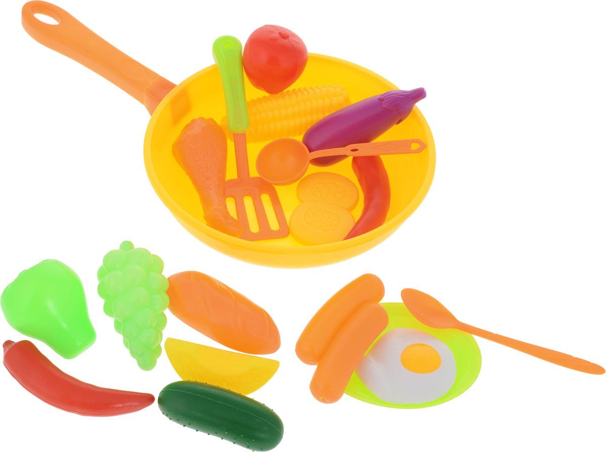 Altacto Игровой набор посуды с продуктами Сытый повар цвет желтый оранжевый 19 предметов ролевые игры игруша игровой набор продукты 10 предметов