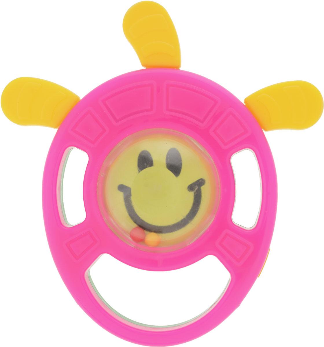 Пластмастер Погремушка-грызунок Петрушка цвет розовый