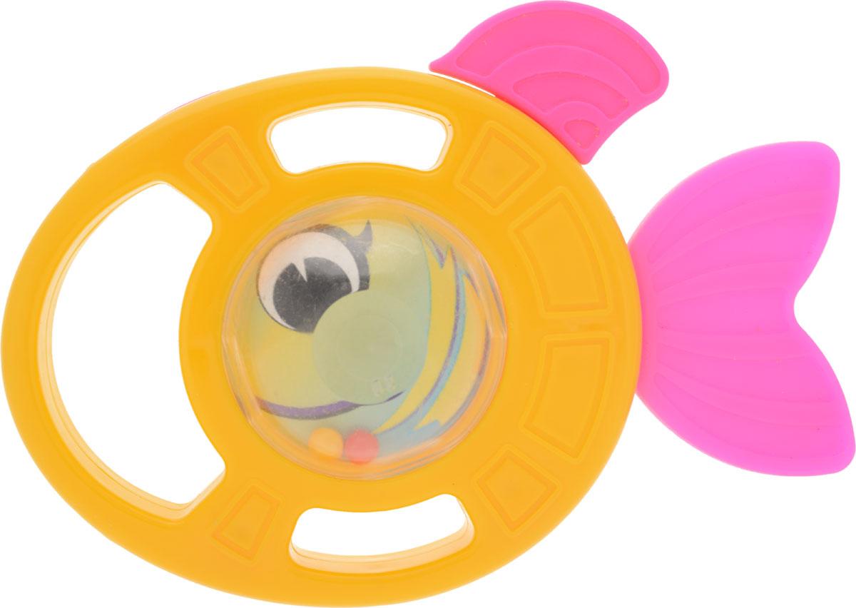 Пластмастер Погремушка-грызунок Рыбка цвет желтый