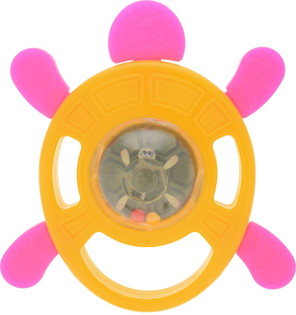Пластмастер Погремушка-грызунок Черепаха цвет желтый