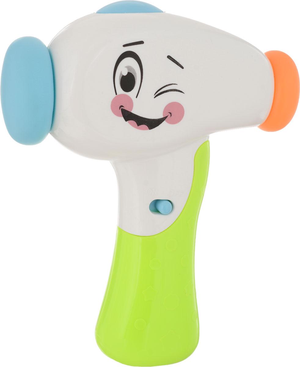 BebeLino развивающая игрушка Молоточек Изучай Звуки цвет белый салатовый bebelino электронная игрушка музыкальный плеер с голосами животных